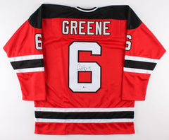 Andy Greene Signed Devils Jersey (Beckett) New Jersey Veteran Defenseman