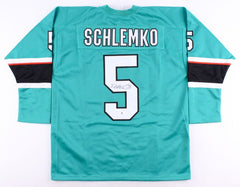 David Schlemko Signed Sharks Jersey (Beckett COA) San Jose Defenseman