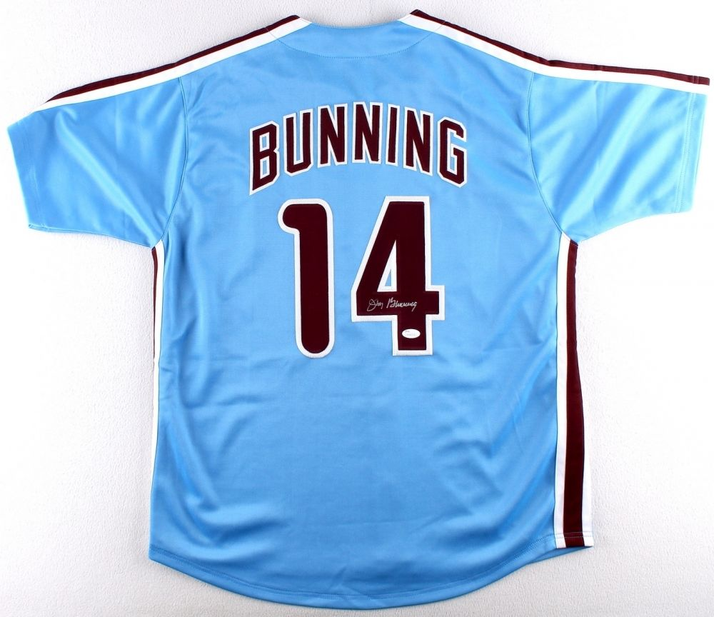 Jim Bunning Signed Philadelphia Phillies Jersey (JSA COA)