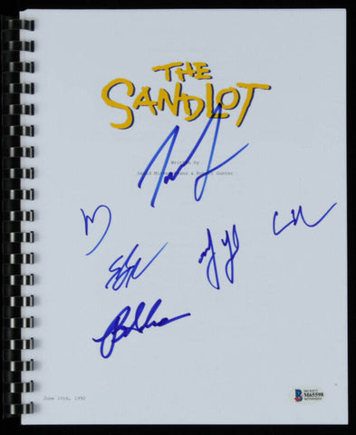 """The Sandlot"" Full Movie Script (Beckett COA) Signed by 6 Cast Members /See List"