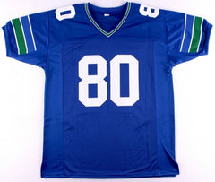 "Steve Largent Signed Seattle Seahawks Jersey Inscribed ""HOF '95"" (JSA COA)"