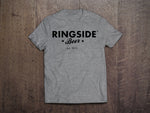 GREY RINGSIDE LOGO TEE