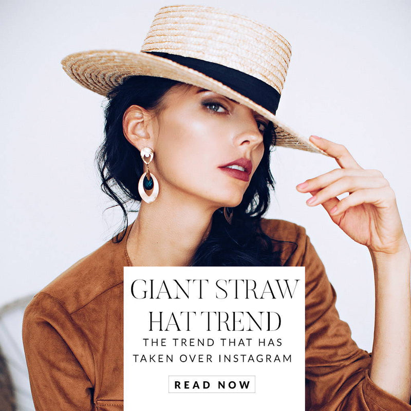 Giant Straw Hat Trend