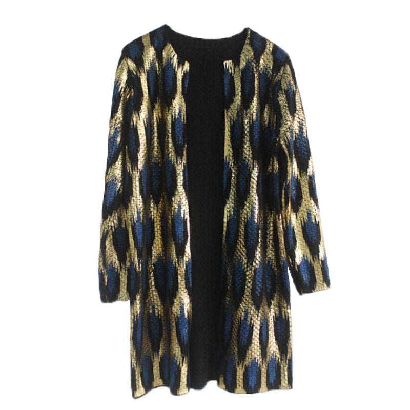 Animal Print Golden Cardigan