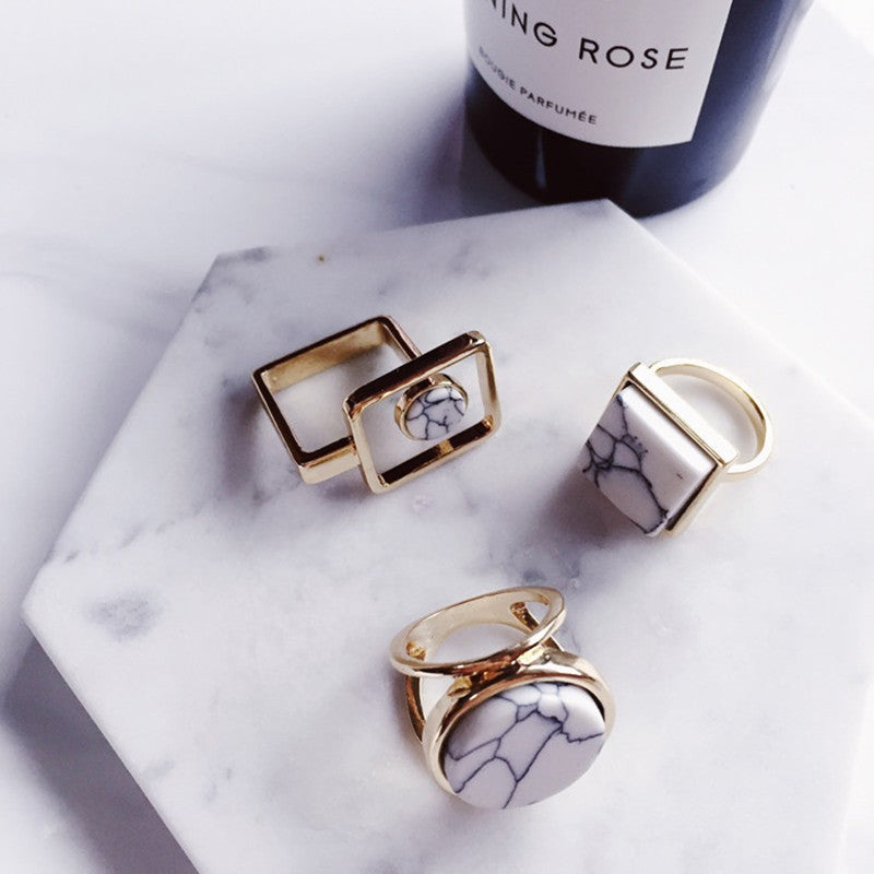 Marble Fashion Rings