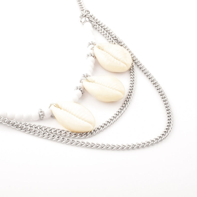 Gold Chain And Shell Necklace