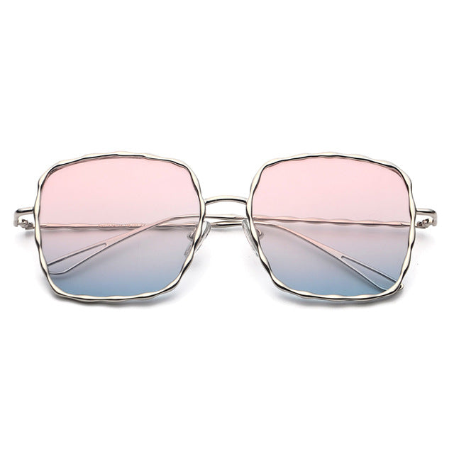 Square Abstract Frame Sunglasses