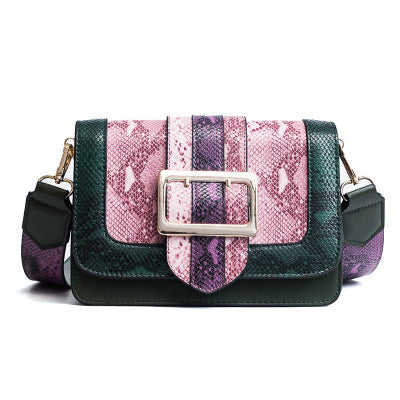 Multicolour Snake Print Bag