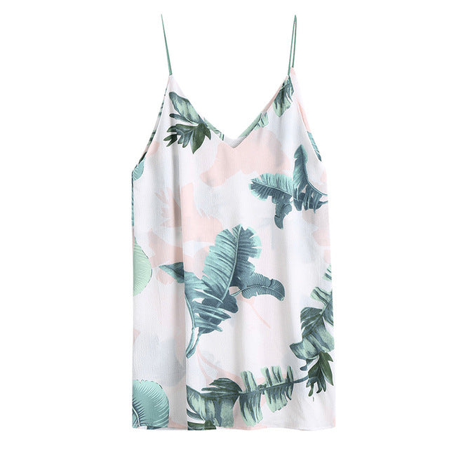 Leaf Print Cami Top - buyandpossess