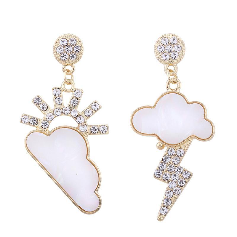 Rain And Clouds Drop Earrings - buyandpossess