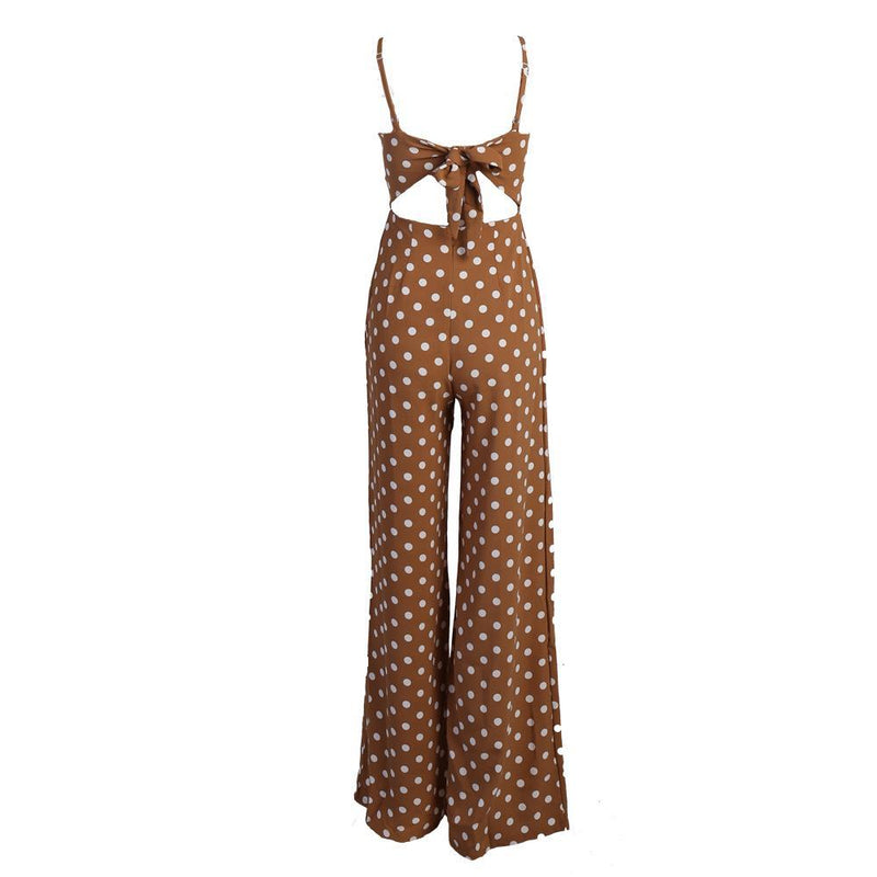 Off Shoulder Polka Dot Jumpsuit - buyandpossess