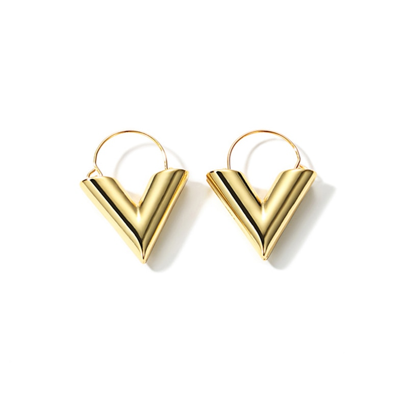 V Statement Earrings