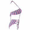 Striped Strap Halter Swimsuit - buyandpossess