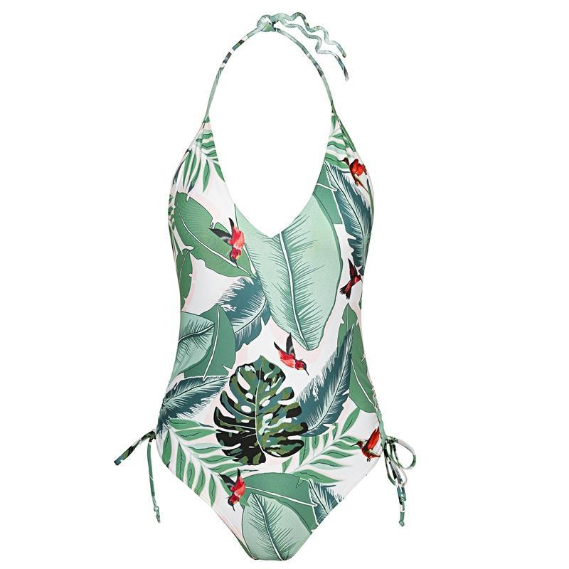 Tropical print One Piece Swimsuit - buyandpossess