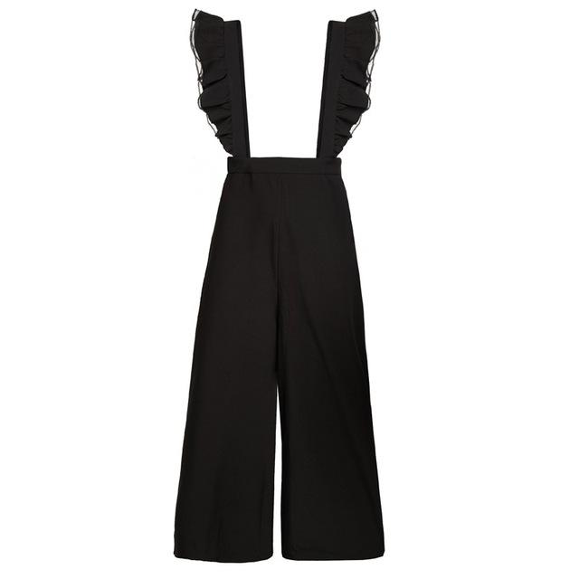 Black Ruffle Jumpsuit - buyandpossess