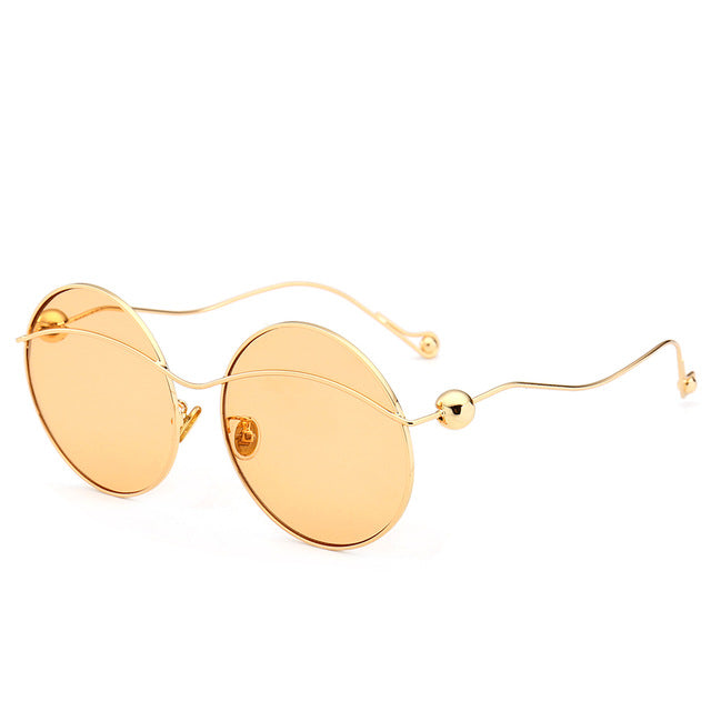 Round Vintage Style Metal Frame Sunglasses - buyandpossess