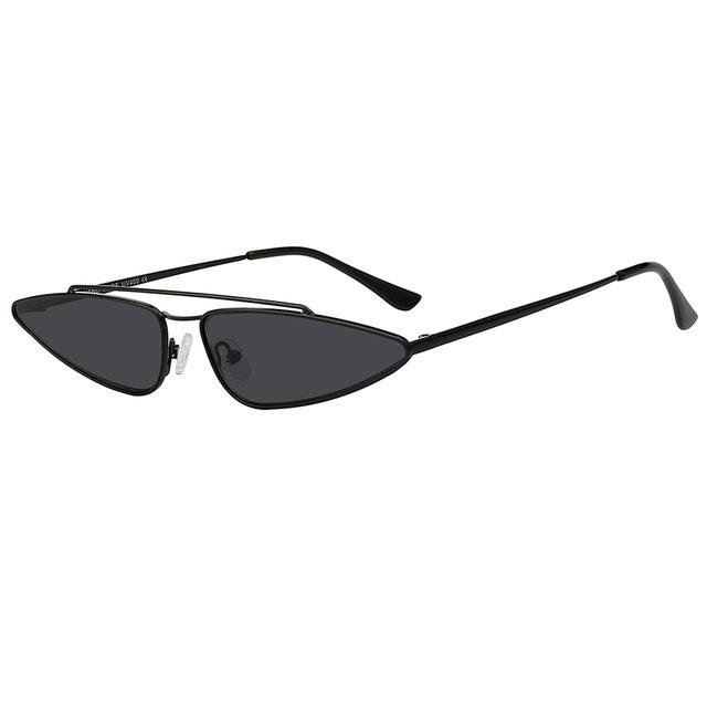Cat Eye Metal Frame Sunglasses - buyandpossess