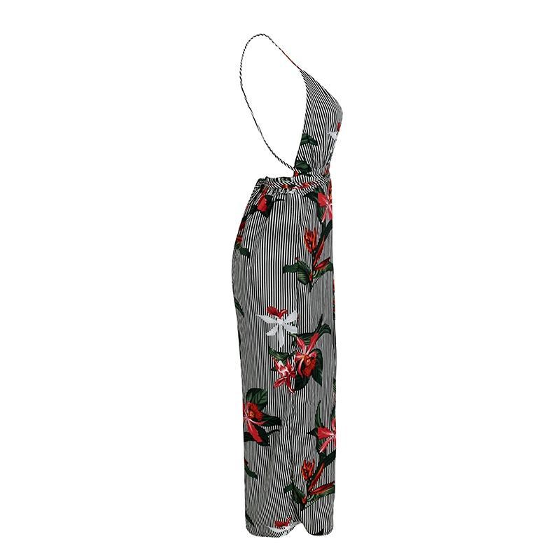 Stripe Floral Jumpsuit - buyandpossess