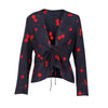 Tie Front Cherry print Blouse - buyandpossess