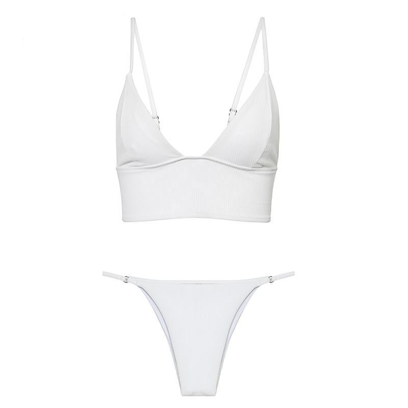 Two Piece White Swimsuit - buyandpossess