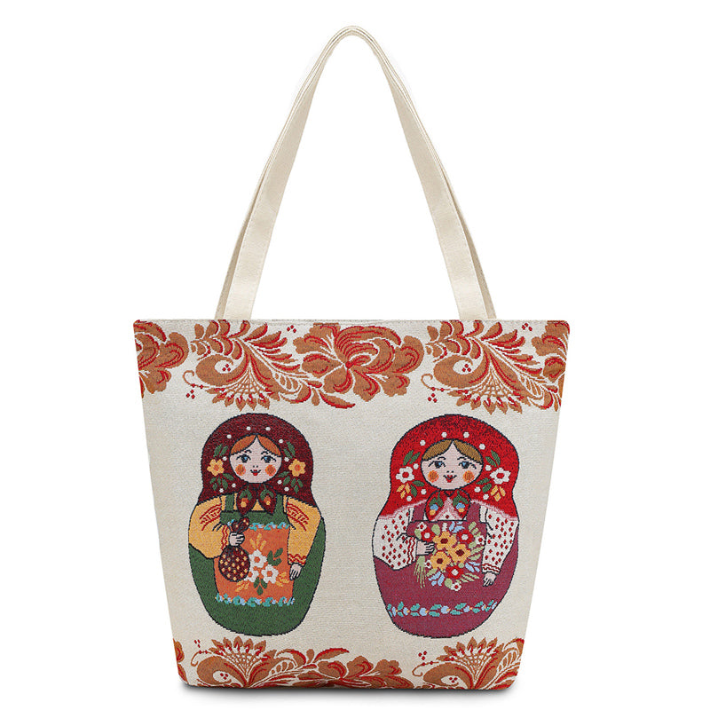 Matryoshka Casual Canvas Tote - buyandpossess