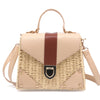 Square PU and Straw Fashion Handbag - buyandpossess