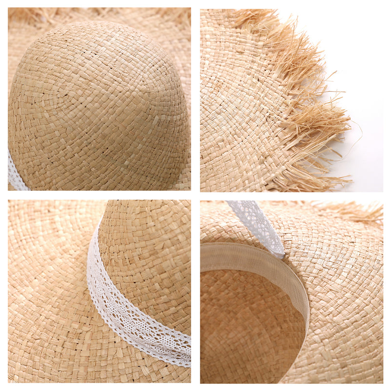 Raw Edge  Fashion Straw Hat - buyandpossess