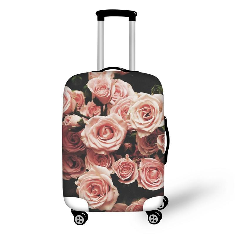 Vintage Roses Print Suitcase Cover - buyandpossess
