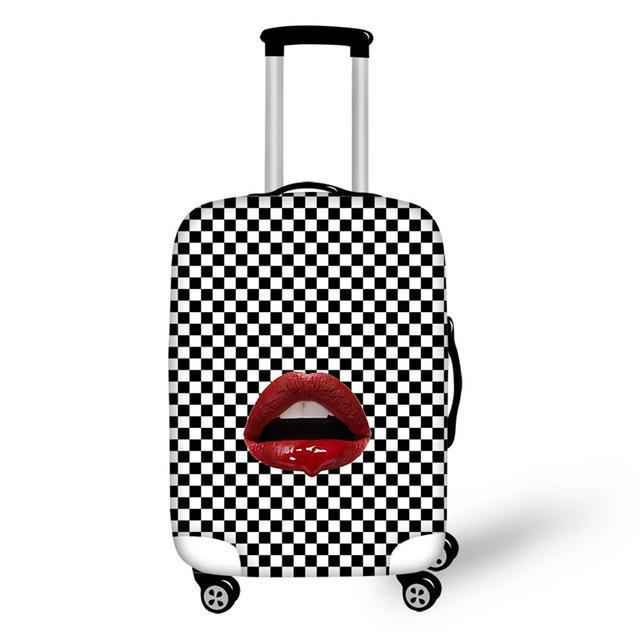 Lips Print Suitcase Cover - buyandpossess