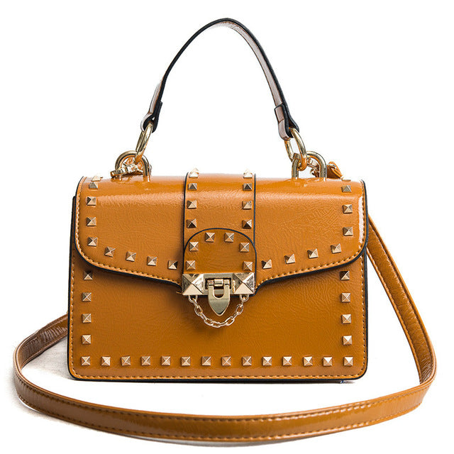 Studded Lock Shoulder Bag - buyandpossess