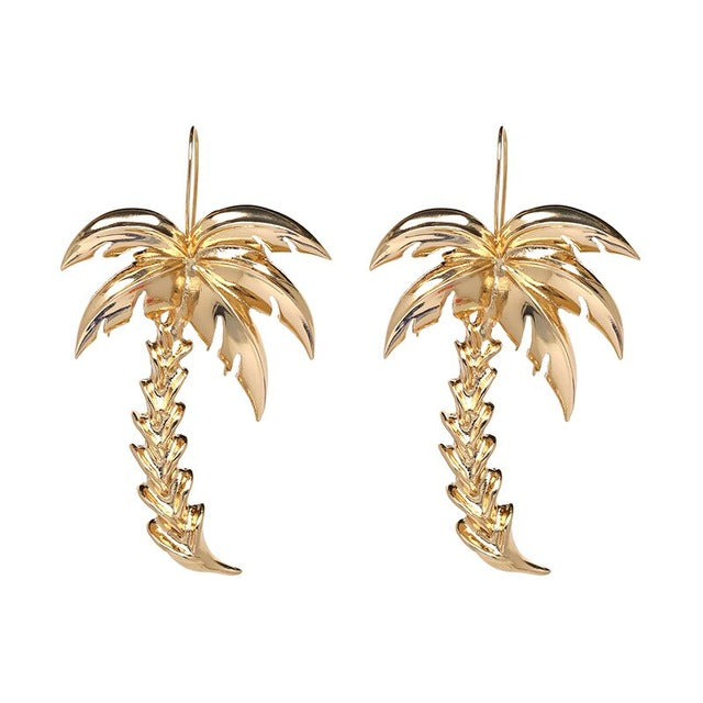 Palm Tree Statement Earrings