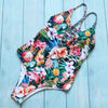 Tropical Print Deep V-Neck Swimsuit - buyandpossess