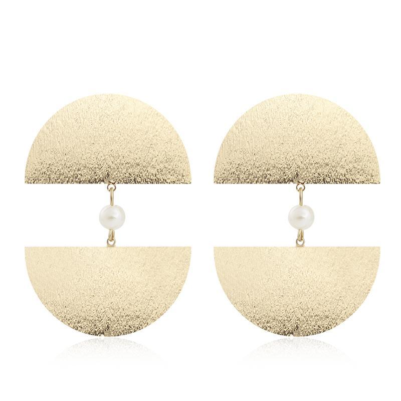 Geometric Half Circle Earrings
