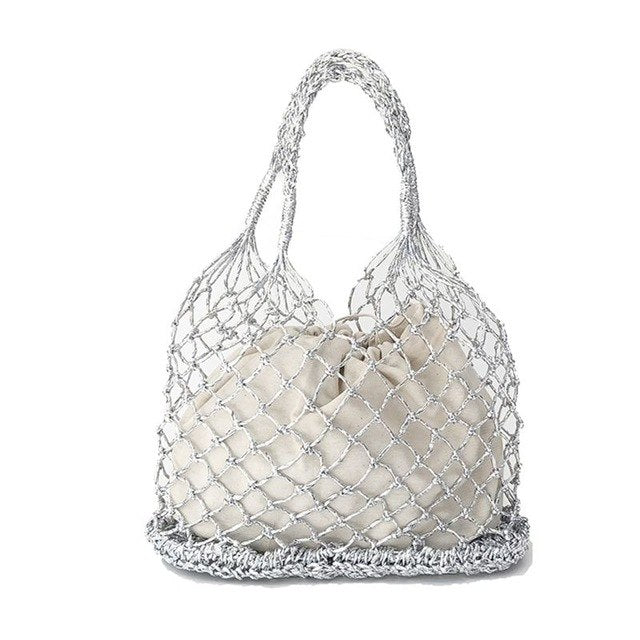 Metallic Net Hollow Bag
