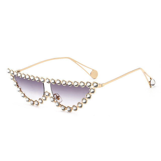 Diamond Frame Narrow Sunglasses - buyandpossess
