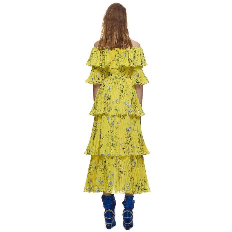 Yellow Floral Maxi Dress - buyandpossess