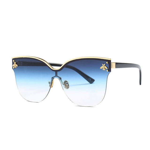 Frameless Sunglasses With Bee Ornaments