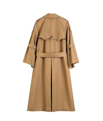 Trench Coat with Flare Sleeves