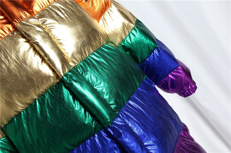 Rainbow Stripe Winter Coat With Removable Sleeves