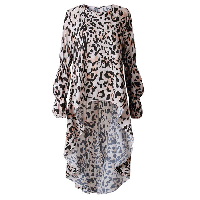 Elongated Leopard Print Blouse