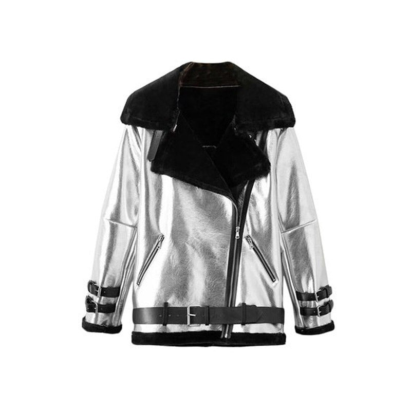 Silver Aviator Jacket