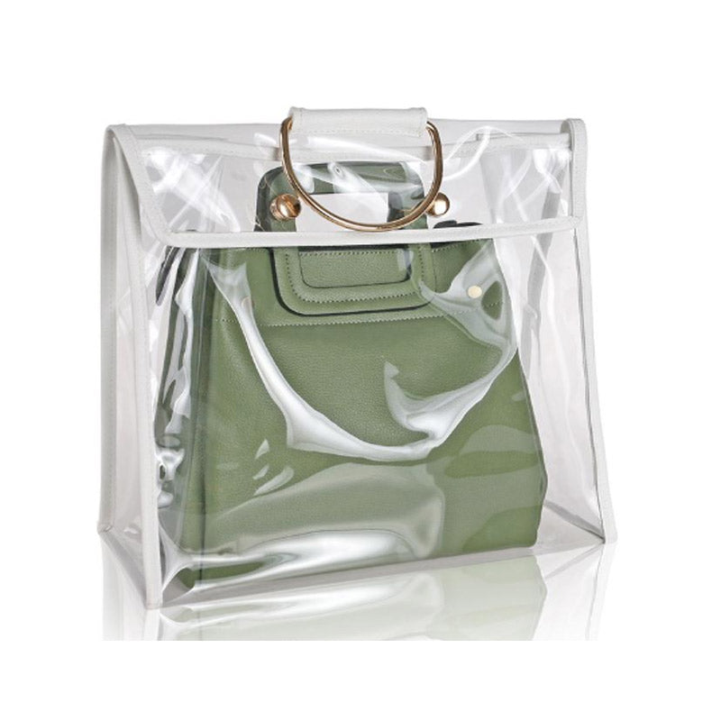 Transparent Metal Handle Fashion Bag