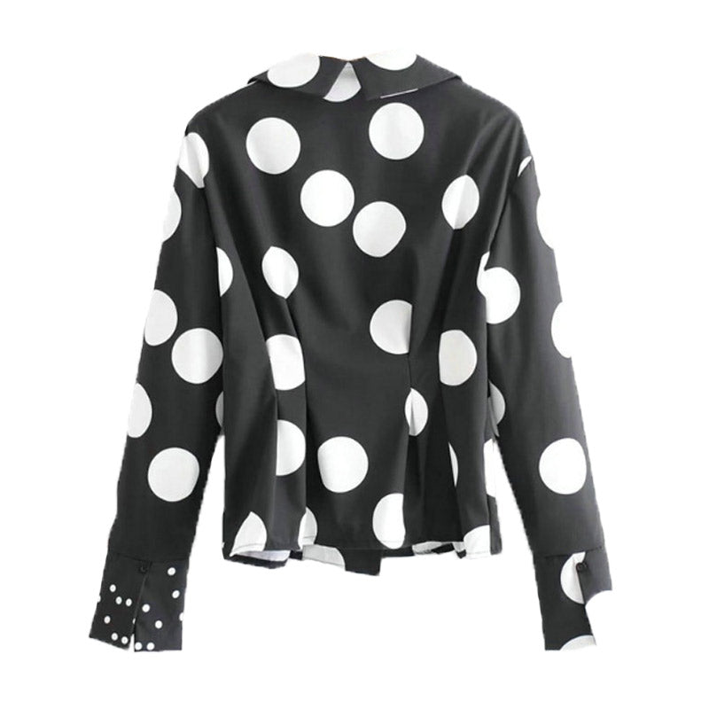 Multi Pattern Polka Dot Blouse