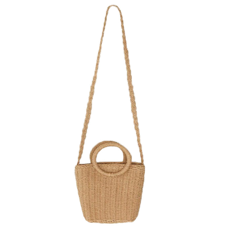 Woven Handle Straw bag