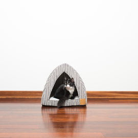 Mog & Bone Cat Igloo Ikat Print