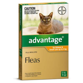Advantage Orange For Cats Small 0-4kg