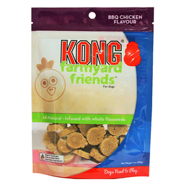Kong Farmyard Friends BBQ Chicken Flavour Biscuit Treat 200g