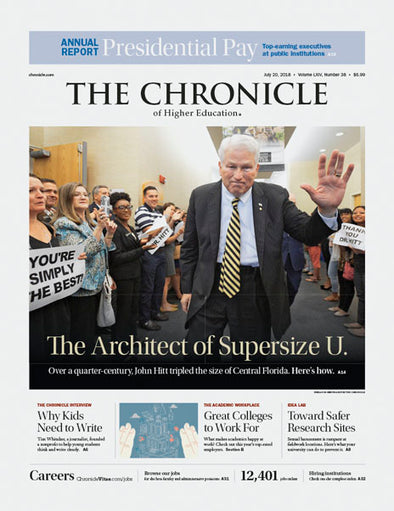 The Chronicle of Higher Education, July 20, 2018