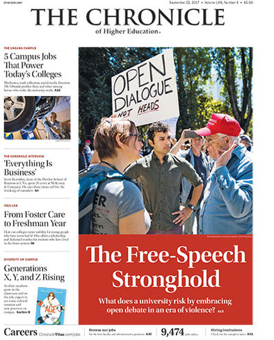 The Chronicle of Higher Education, September 22, 2017
