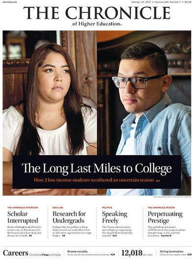 The Chronicle of Higher Education, October 13, 2017